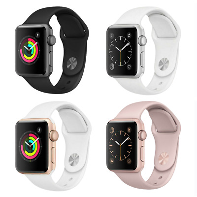 $ CDN184 • Buy Apple Watch Series 2 38mm Aluminum Case - Space Gray Silver Gold Rose Sport Band