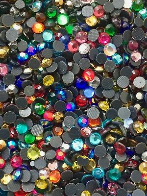 £4.49 • Buy GLASS Hot Fix/ Iron On Rhinestones Various Colours And Size 2,3,4,5,6,7mm