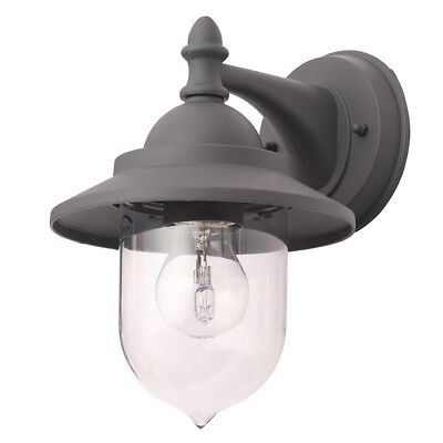 £19.99 • Buy Litecraft Bacup Outdoor Wall Lantern Industrial Fisherman Style Light Anthracite