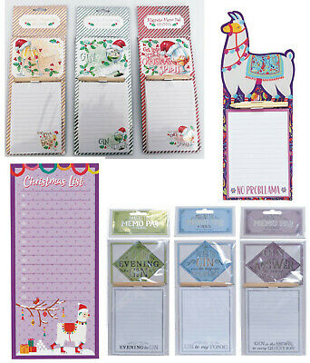 Magnetic Memo Pad Fridge Magnet Notes Board Cocktail Gin Shopping List • 3.99£