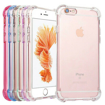 AU4.45 • Buy Shockproof Tough Gel Clear Case Cover For Apple IPhone 5 SE 6 6s 7 8 Plus X 12