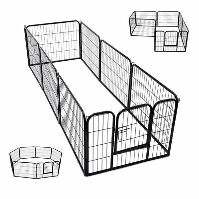£74.99 • Buy Extra Large Heavy Duty 8 Piece Puppy Dog Run Enclosure Welping Pen Playpen S247