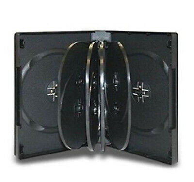 AU22.48 • Buy 6 X Hold 10 Quality DVD Cover Holds Disc Case Holder + Outer Wrap Insert BLACK