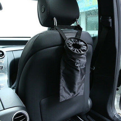 $1.99 • Buy Car Seats Headrest Back Trash Bags Washable Hanging Garbage Can Organizer Black
