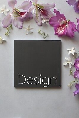 Square Grey Notebook With  DESIGN  Typography, Inspiration Sketchbook,  • 10.13£