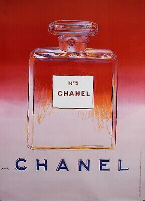 $950 • Buy Original Vintage French Poster For Chanel 5 By Andy Warhol - Red/Pink  RARE !