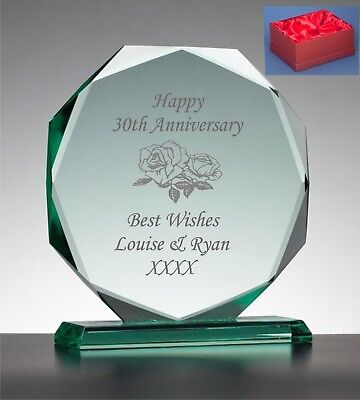 Personalised Engraved Presentation Glass Plaque  Birthday Gift Any Age 60th 65th • 22.99£