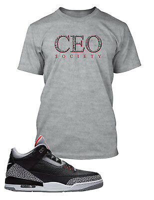 $19.99 • Buy CEO Tee Shirt To Match Jordan 3 Cement Shoe Men Graphic T Sizes Small To 10XL