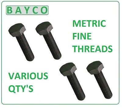 Hex Bolts Fine Pitch Setscrews M10 X 1.25p, Lengths 20mm To 50mm In Stock  • 2.44£
