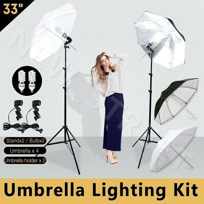 AU59.99 • Buy Photography Studio Umbrella Lighting Reflector Video Continuous Light Stand Kit