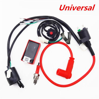 $30.89 • Buy Wiring Harness Switch Ignition Coil CDI Kit For 110 125 140 150cc Motorcycle ATV