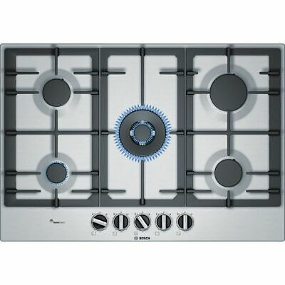 £579 • Buy Bosch PCQ7A5B90 Serie 6 Built In 75cm 5 Burners Gas Hob Stainless Steel