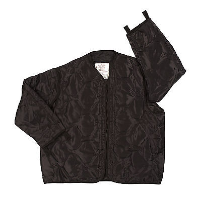$30.99 • Buy Black M-65 Field Jacket Liner Black Quilted Nylon Made By Rothco Size S To 2x