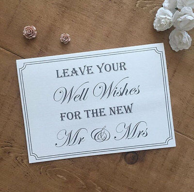 £2.25 • Buy Wedding Guest Book/wish Tree Table Sign Good/well Wishes Shabby Vintage Gift