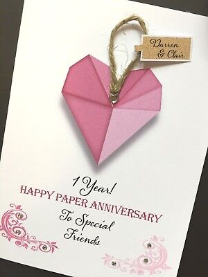 Hand-made Personalised Wedding Anniversary Card - Material Years • 4.30£
