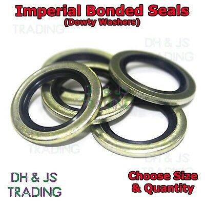 £2.99 • Buy Imperial Bonded Seal Washers - Dowty Sealing Washer Sealing (1/8  - 1  BSP)
