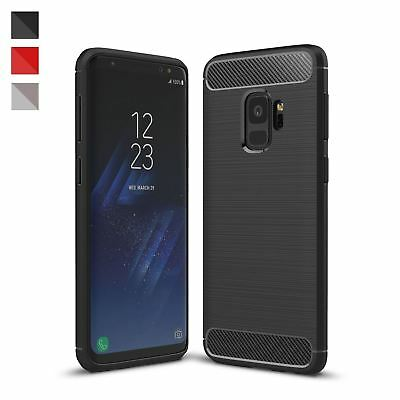 $ CDN5.04 • Buy ShockProof Luxury TPU Rugged Carbon Case Cover For Samsung Galaxy S9 & S9 Plus
