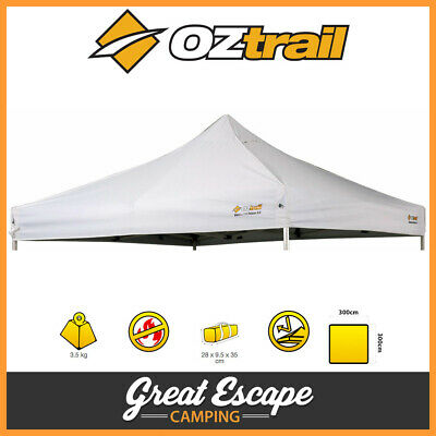 AU164 • Buy OZtrail Commercial Deluxe 3.0 Gazebo Replacement Canopy White 3 X 3m Roof