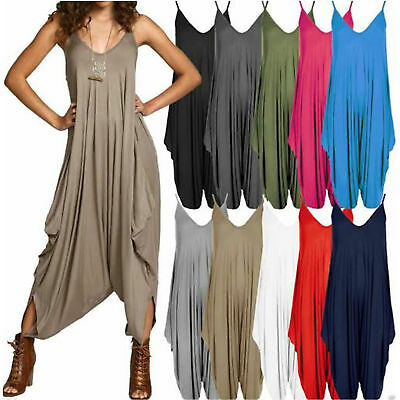 New Ladies Cami Lagenlook Romper Baggy Harem Jumpsuit Playsuit Dress 8 To 26 • 7.97£