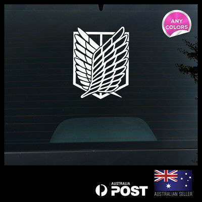 AU12.99 • Buy Attack On Titan Wings Of Freedom Survey Corps Sticker Die Cut Decal 200x281mm