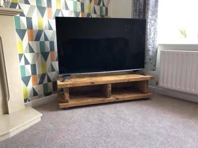 £110 • Buy Chunky Rustic TV Stand / Unit / Cabinet Solid Wood Oak Stain Handmade In The UK