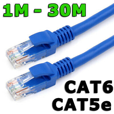 AU3.75 • Buy Ethernet LAN Cable CAT6 Fast Network Router Data Internet Extension Patch Lead