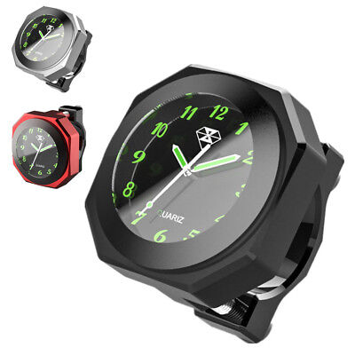 $24.90 • Buy Black CNC Motorcycle Handlebar Clock Analogue Dial Watch Waterproof Night View