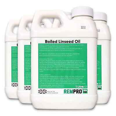 Rempro 1 Litre Boiled Linseed Oil - Professional Grade Wood Treatment Sealer • 12.99£