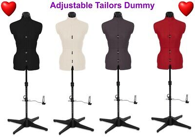 Adjustable Tailors Dummy Dressmakers Mannequin Female Fashion A1 Sizes 6 To 22 ❤ • 98.99£