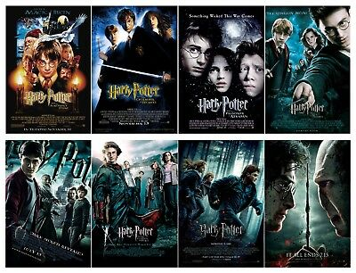 $ CDN71.77 • Buy Harry Potter Movie Silk Fabric Poster 11 X17  Set Of 8 Posters