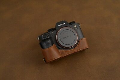 $ CDN92.54 • Buy VR Handmade Genuine Leather Half Case For Sony A7R3 A7R III A7RM3 A9 Brown