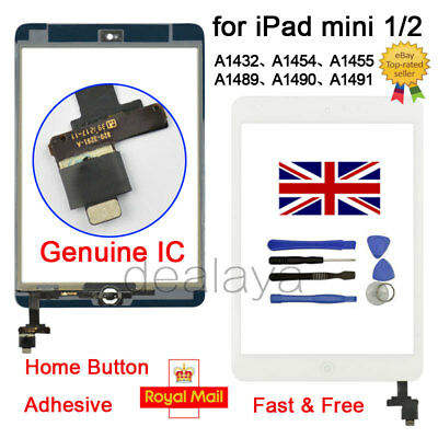 For IPad Mini 1 2 A1432 A1454 A1455 A1489 A1490 A1491 White Replacement Screen • 10.93£