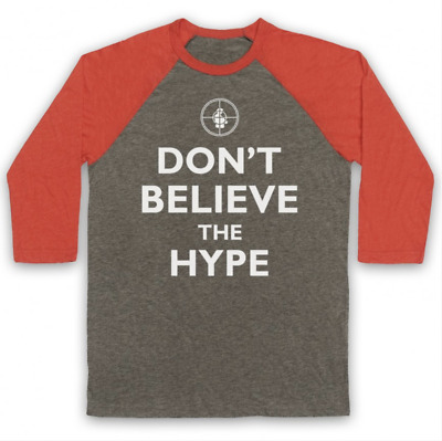 £24.99 • Buy Don't Believe The Hype Public Enemy Unofficial Hip Hop 3/4 Sleeve Baseball Tee