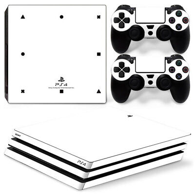 AU11.58 • Buy White Skin For  Playstation PS4 PRO Console Stickers & 2 Controllers Skin