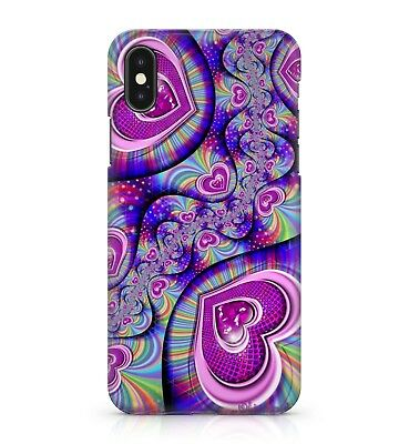 $ CDN13.73 • Buy Colourful Purple Pink Rainbow Funky Trippy Love Hearts Pattern Phone Case Cover