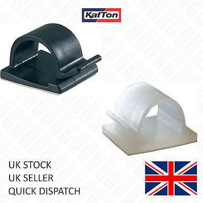 £1.19 • Buy Self Adhesive Nylon Clips For Cable,wire,conduit, Natural Black 16mm, 25mm, 28mm