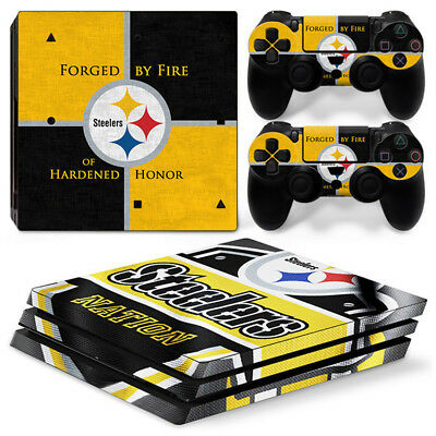 AU11.58 • Buy Steelers Skin For  Playstation PS4 PRO Pro Stickers & 2 Controllers Skin