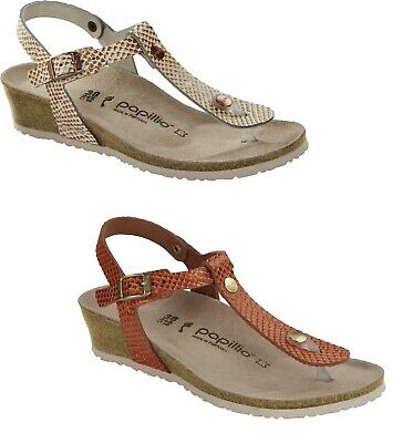 Birkenstock Papillio Ashley Mermaid Cream Coral Wedge Sandals Leather Women's • 83.21£