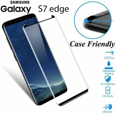 $ CDN5.17 • Buy Case Friendly Tempered Glass Screen Protector Full Cover Samsung Galaxy S7 Edge