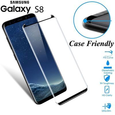$ CDN6.84 • Buy Case Friendly Tempered Glass Screen Protector Full Cover For Samsung Galaxy S8
