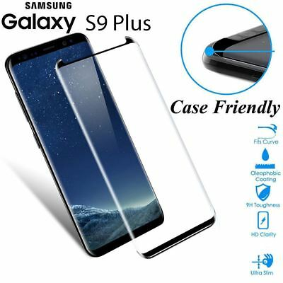 $ CDN6.97 • Buy Case Friendly Tempered Glass Screen Protector Full Cover Samsung Galaxy S9 Plus
