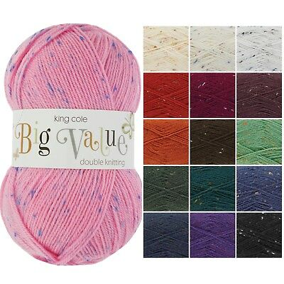 BIG VALUE DK Knitting Yarn By King Cole * Double Knitting Wool Many Colours 100g • 2.50£