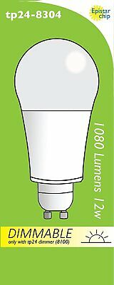Tp24 12W Frosted GLS LED Dimmable Light Bulb Warm White 1080 Lumens L1/GU10 Cap • 10.50£