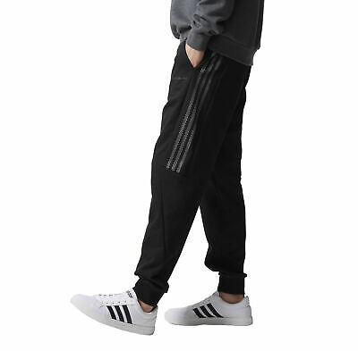 AU67.95 • Buy Adidas Neo Teen Men's Knit Track Suit Pants Gym Fitness Trackies - Black