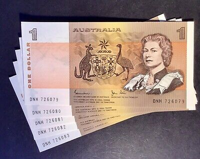 AU58.45 • Buy Australian Paper $1 Paper Note UnCirculated Condition. In Sequence X 5
