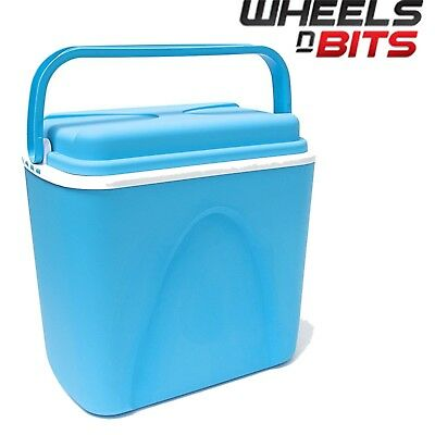 WNB® 24 Litre Insulated Ice Cooler Box Ideal For Camping Picnic Beach Lid Handle • 14.79£