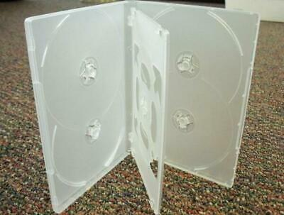 AU58.10 • Buy 50 X Hold 6 14mm Standard Hex DVD Cover Disc Case Holds 6 Discs Outer Wrap CLEAR