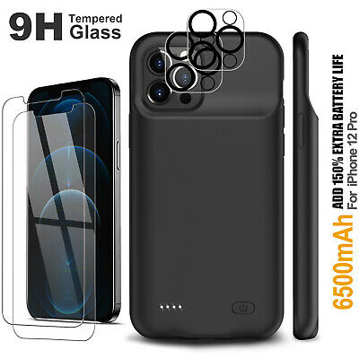 AU68.99 • Buy IPhone 12 Pro Max Battery Case, Rechargeable Shockproof Backup Battery Charger