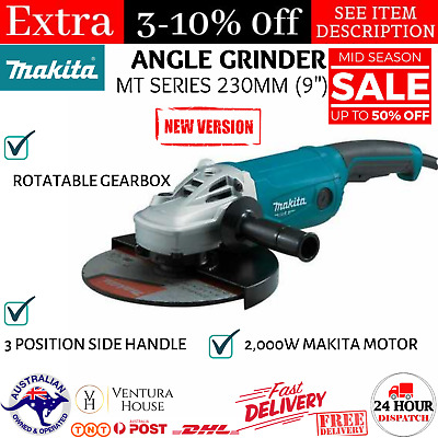 AU189.05 • Buy Angle Grinder 2000W 230mm (9 ) MT Electric Grinding Power Cutting Tool Makita