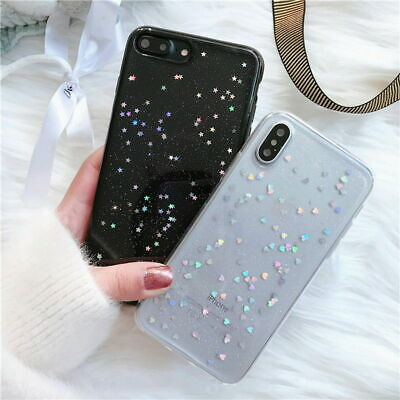AU5.09 • Buy For IPhone XS Max XR 7 8 Bling Star Sparkle Glitter Hard Case Soft Bumper Cover